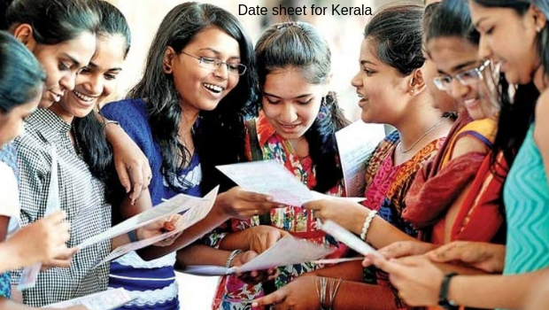 Date sheet for Kerala