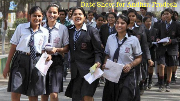 Date Sheet for Andhra Pradesh